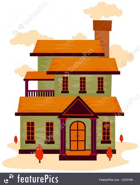 illustration  cartoon house