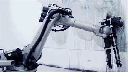 Robot Arm Gifs Interactive Spinning Serbian Interaction