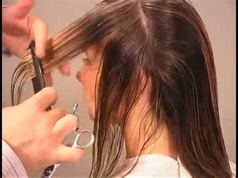 Hair Cutting Technique & How to cut Long Graduated Haircut
