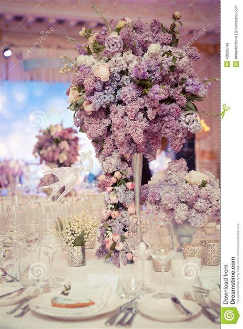 Festive Table Decoration Lilac Colours Wedding Decorations