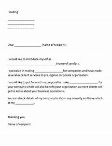 Writing a letter of introduction for yourself best for Template for introducing yourself