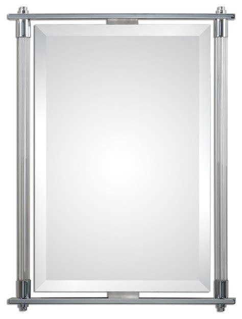 Modern Chrome Bathroom Mirrors by Uttermost 1127 Adara Polished Chrome Vanity Mirror