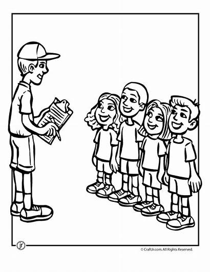 Camp Coloring Pages Camping Activities Campfire Canoe