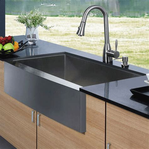 stainless steel apron front kitchen sink vg15003 vigo vg15003 apron front stainless steel 9383