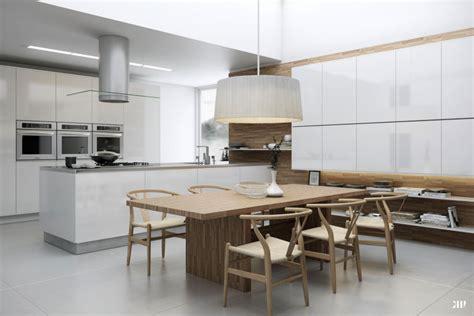 grande cuisine table a manger grande cuisine sur le salon ideeco