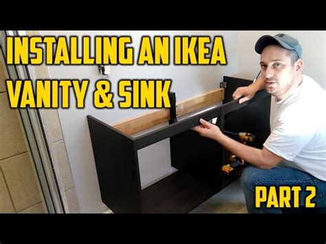 Installing Floating Vanity by Installing An Ikea Vanity Sink Part 2
