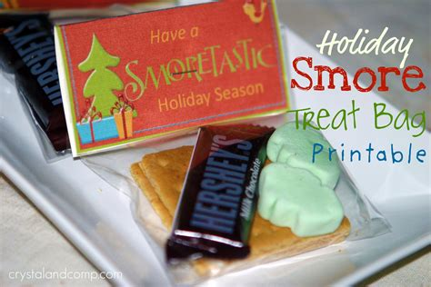 smores craft ideas crafts s more treat bag with free printable 2952