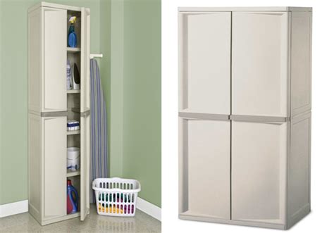 sterilite 01428501 4 shelf cabinet with putty handles