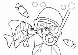 Coloring Pages Snorkeling Summer Beach Snorkel Kidspressmagazine Template Stress Activities Embroidery sketch template