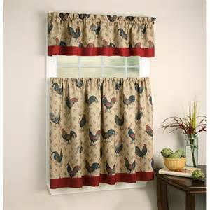 rooster printed curtain panel set walmart com