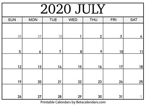 blank july calendar printable beta calendars