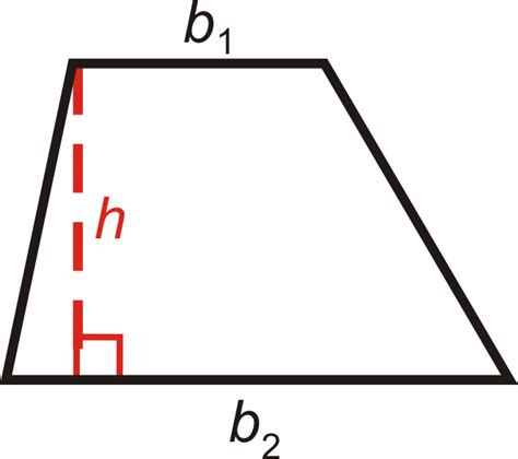 Diagram Of Trapezoid by Area And Perimeter Of Trapezoids Read Geometry Ck