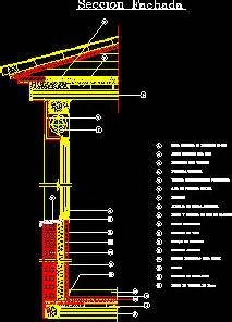 detail wall section  inclined slab dwg section