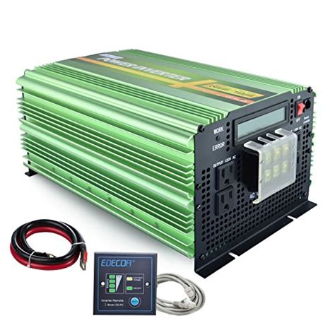 edecoa 3500w power inverter sine wave dc 12v to 110v ac with lcd display and remote wantitall