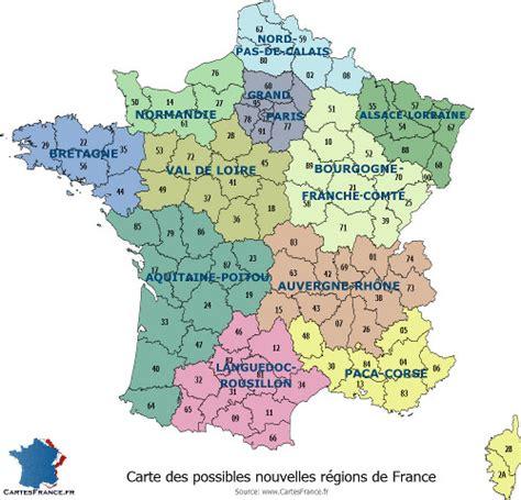 Nouvelle Carte De Par Region by Carte De Region Carte Des R 233 Gions Fran 231 Aises