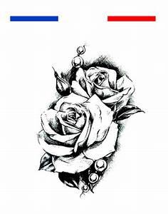 Rose En Tatouage : tatouage rose noir et blanc homme femme mon petit tatouage temporaire ~ Farleysfitness.com Idées de Décoration