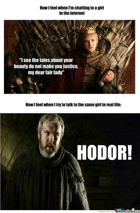 Game Of Thrones Hodor Meme - game of thrones funny memes funny pinterest