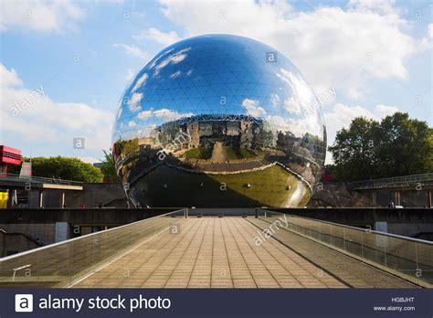la geode   parc de la villette  paris france stock