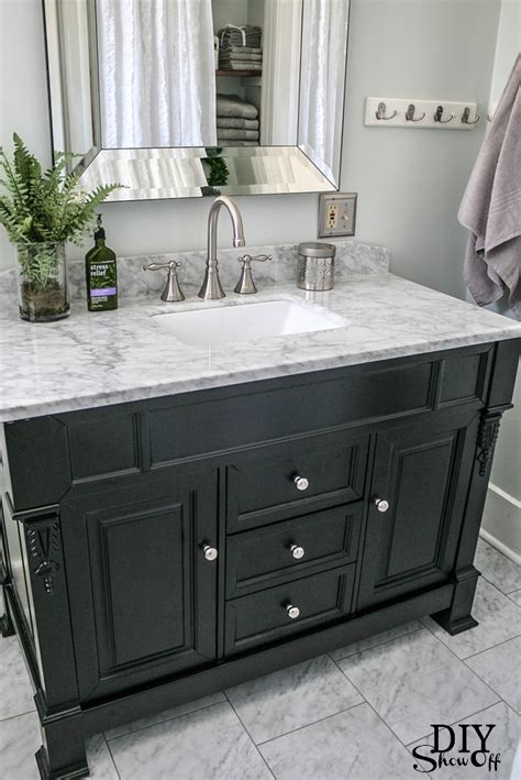 diy show black vanity marble vanity tops and carrara