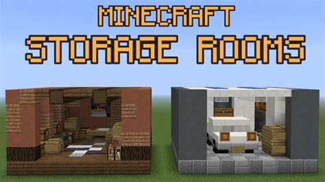 minecraft storage room ideas youtube