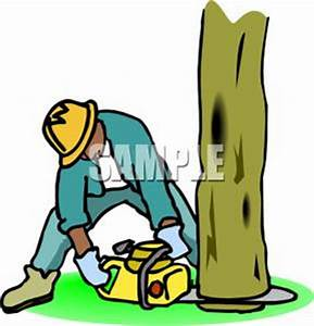 Log Cutting Tree Clipart