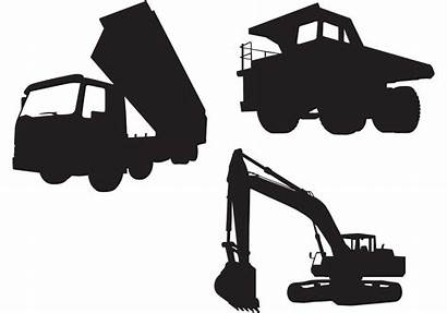 Excavator Vector Industrial Truck Silhouettes Vectors Qvectors