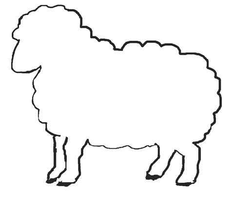 printable sheep template jos gandos coloring pages