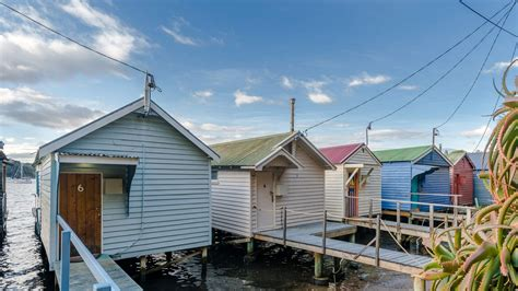 boat shed iconic boat sheds in tasmania s cornelian bay on the market