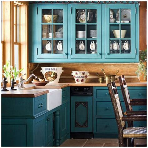 creative ways  include teal   kitchen big chill
