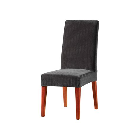 stretch pinstripe short dining room chair cover sure fit