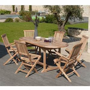 Table De Jardin Ovale : salon de jardin en teck sumbara 1 1 table ovale ~ Teatrodelosmanantiales.com Idées de Décoration