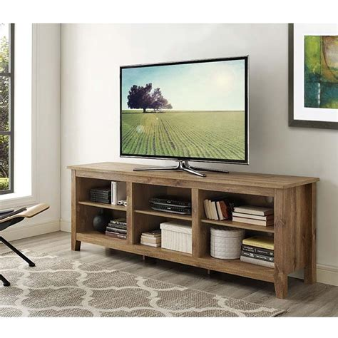 70 inch tv stand walker edison essentials 70 inch tv stand barnwood w70cspbw
