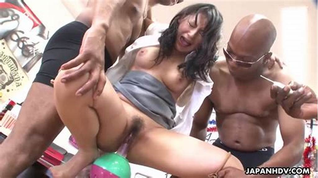 #Japanese #Hairy #Slut #Gets #Fucked #By #Huge #Black #Cocks
