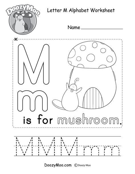letter l alphabet activity worksheet doozy moo 811 | letter m alphabet activity worksheet