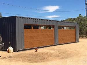 shipping container garage door With shipping container garage as your storage garage