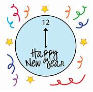 Free New Years Clipart Pictures  Fireworks  champagne  signs   New Years Eve Clock Clip Art