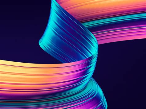 Abstract Black Ribbon Black Background Design by Neon Colorful Ribbon Abstract Black Background Preview