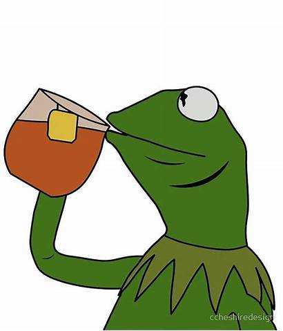 Kermit Tea Sipping Meme Frog Drinking None
