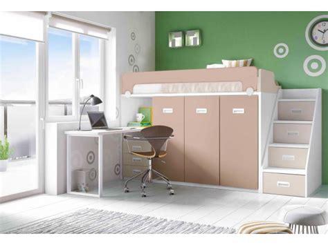 Lit Mezzanine Pour Enfant Mi-hauteur Avec Bureau