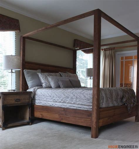 Wood Bed Frames For King Size Beds by Best 25 King Bed Frame Ideas On Diy King Bed