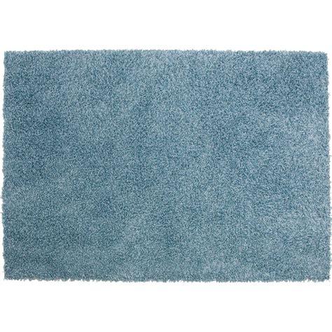 tapis bleu shaggy pop l 120 x l 170 cm leroy merlin