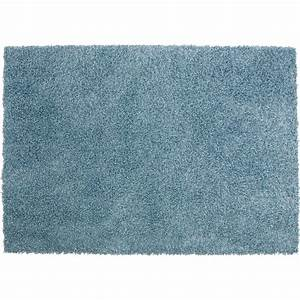 tapis bleu shaggy pop l120 x l170 cm leroy merlin With tapis salon bleu