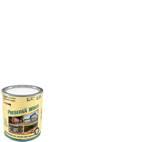 preserva wood  qt  voc oil based clear penetrating