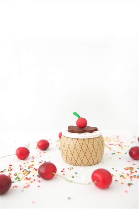 diy ice cream cone trinket box damask love