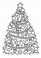 Coloring Tree Christmas Pages Printable Colouring Children Holidays Sheets Trees Print Chrismas Xmas Sheet Printables Holiday Decorations Number Templates Noel sketch template
