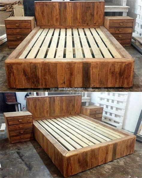 recycled pallet wood bed  jobs  dave wood pallet