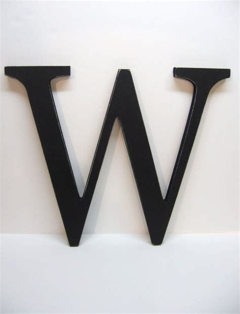 Black marquee letters with lights, led diamond letter light up letters battery operated dimmable for wall decor, wedding, birthday decorations. Wall Letter W Sign - 15 Inch - Painted Black - Distressed - Initial - Monogram - Personalized ...