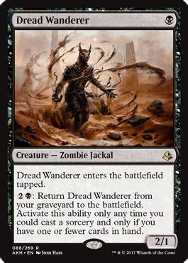 standard mtg decks amonkhet dread wanderer from amonkhet spoiler