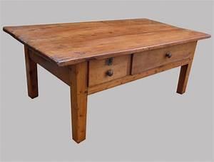 Table Basse Avec Tiroir : table ancienne bois avec tiroir ~ Teatrodelosmanantiales.com Idées de Décoration