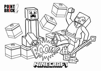 Minecraft Coloring Lego Pages Alex Steve Colorare
